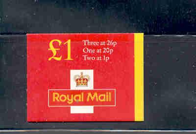 Great Britain Sc BK426 £1 MH216b Machin stamp booklet  mint NH