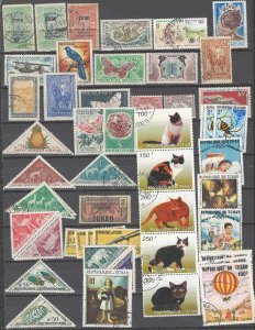 COLLECTION LOT # 01 FRENCH COLONIES IN AFRICA 190 STAMPS 4 SCAN