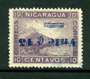 Nicaragua 1904 15¢/10¢ Inverted Momotombo Scott 176a Mint W645