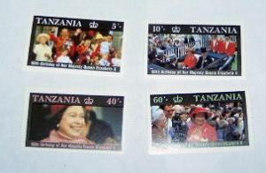 Tanzania - 333-36, MNH Set. Queen Birthday. SCV - $2.00