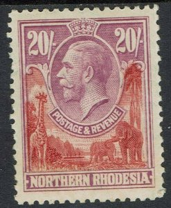 NORTHERN RHODESIA 1925 KGV GIRAFFE AND ELEPHANTS 20/-