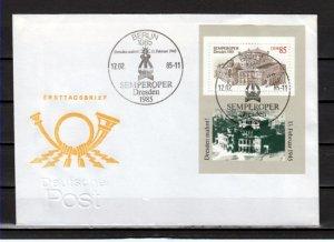 German, Dem. Rep. Scott cat. 2460. Dresden Opera House. Large First day cover. ^