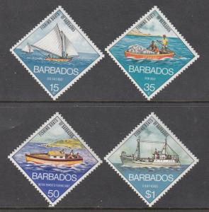 Barbados, Sc # 392-395, MNH, 1974, Fishing Boat