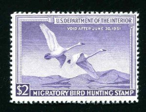 #RW17 Trumpeter Swans 1950 US Federal Duck Stamp MNH