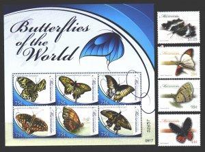 Micronesia. 2009. 1989-92, ml1993-98. Butterflies fauna. MNH.