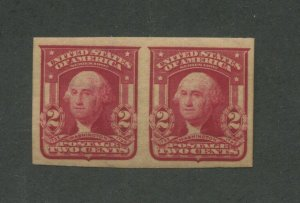1908 United States Postage Stamp #320A Mint Never Hinged VF Original Gum Pair