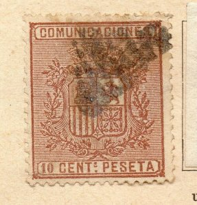 Spain 1872-73 Early Issue Fine Used 10c. NW-16580