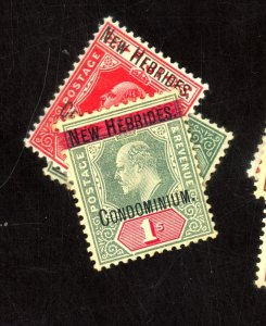 NEW HEBRIDES-BRITISH #7-9 MINT F-VF OG HR Cat $25