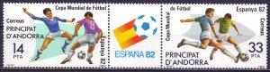 Andorra. 1982. 185-86. Football. MNH.