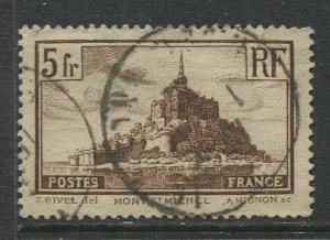 France - Scott 250 - General Issue -1929 - Used -Single 5fr Stamp