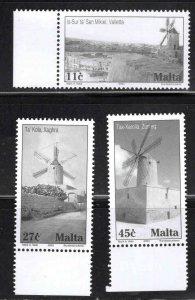 MALTA  Scott 1141-1143 Windmill set MNH**