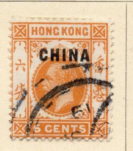 China 1917 Early Issue Fine Used 6c. Optd 322558