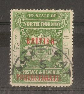 North Borneo 1903 $2 'Protectorate' Opt SG143 Fine Used Cat£100