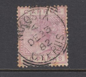 Cyprus Sc 20a used. 1882 30pa lilac Queen Victoria, Die A, toned perfs