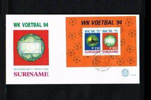 1994 - Rep. Surinam FDC E174A - Sport - Football (Soccer) - Worldchampionship...
