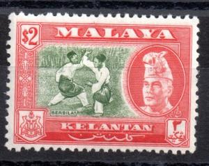 Malaya Kelantan 1957 $2 mint LHM SG93 WS1531