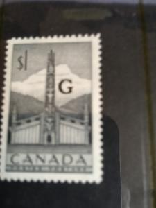Canada 1953 $1. Totem Ovpt. G USC #O32 Mint VF-NH Cat. $18.00