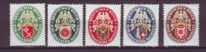 J25160 JLstamps 1929 germany set mh #b28-32 arms dated 1929