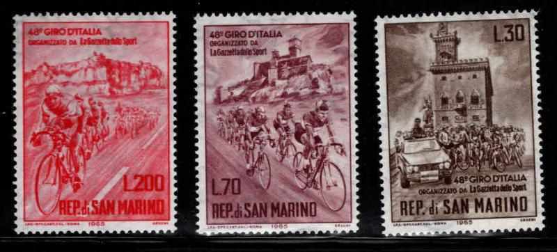 San Marino Scott 609-611 MNH** 1965 Cycle race set