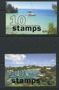 Bermuda 2008 Beach Views Booklets Scott 959a-62a 962a 959 962 NH SB8/11