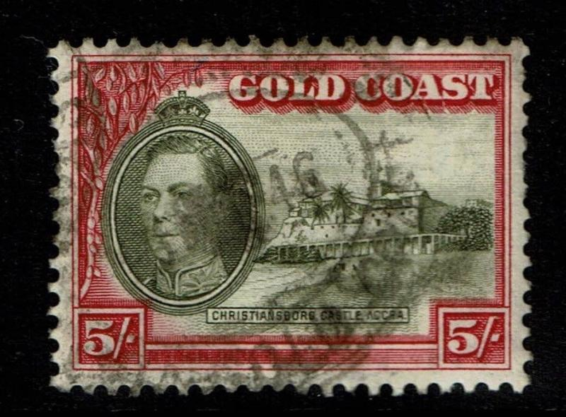 Gold Coast SG# 131a, Used, some pulled perfs, slightly wrinkled - S1011