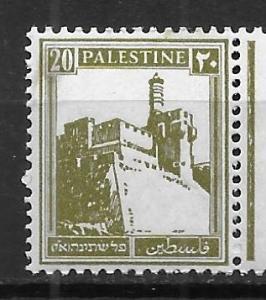 Palestine 77 Citadel at Jerusalem single MNH