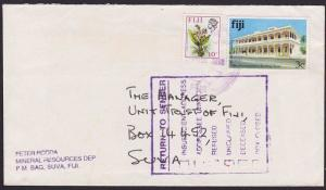 FIJI 1998 local Suva cover with large RETURN TO SENDER box marking..........5995