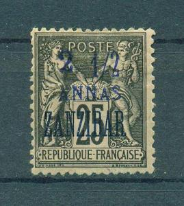 French Offices in Zanzibar sc# 22 mhr cat val $12.00