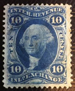 #R36, Inland Exchange, 1862, first issue,  Beauty