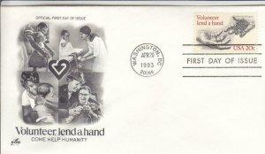 1983, Volunteer, Lend a Hand, Artcraft, FDC (D14699)