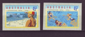 J24288 JLstamps 1994 australia set mnh #1365-6 swimming