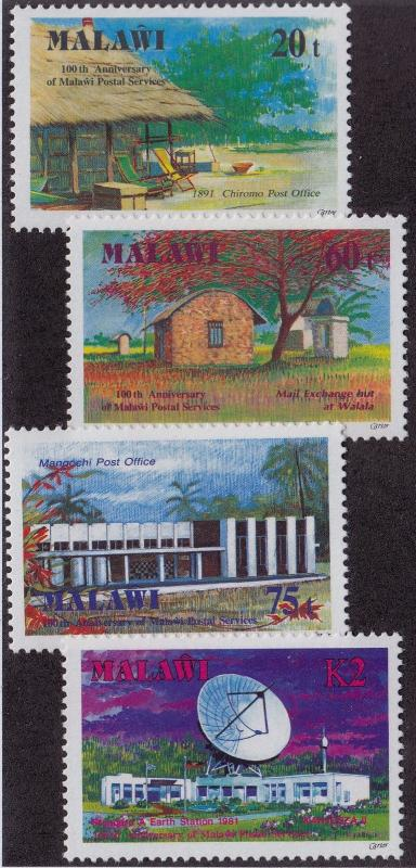 MALAWI MH Scott # 586-589 Post Offices - remnants (4 Stamps)