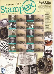 2007 BC-103 Spring Stampex Business Smilers Sheet