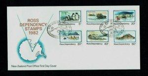 Ross Dependency: 1982, definitive set, first day cover, Scott Base fdi.