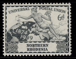 NORTHERN RHODESIA GVI SG52, 6d grey, M MINT.