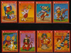 Turks & Caicos 1213-20 MNH Disney, Winnie the Pooh