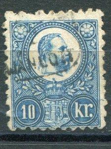 Hungary 1871 engraves used 10 k - Lakeshore Philatelics