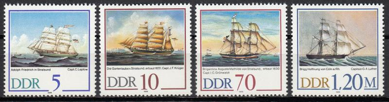 East Germany - 1988 Mariner's paintings Sc# 2703/2706 - MNH (424)