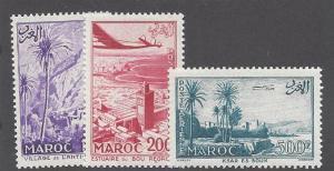 French Morocco C53-5 1955 Views set NH