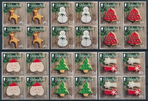 [I994] Gibraltar 2016 Christmas good set in bloc of 4 stamps VF MNH