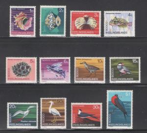 Cocos Islands 1969 Marine Life Scott # 8 - 19 MH