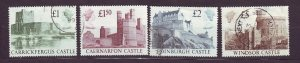 J23538 JLstamps 1988 great britain set used #1230-3 castles
