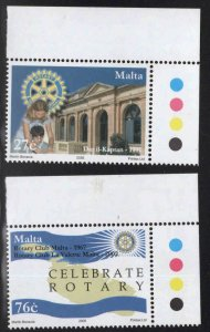 MALTA  Scott 1194-1195 MNH** Rotary International set