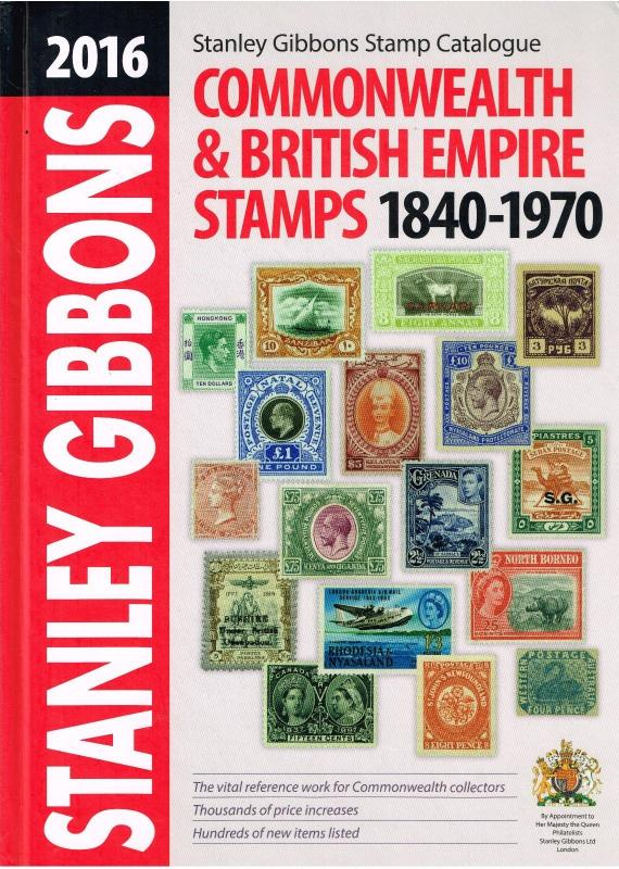 Stanley Gibbons Commonwealth & Empire Stamps (1840 - 1970) Catalogue - 2016