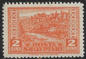 ALBANIA 1923 2q Gjirokaster Views Pictorial Sc 147 MNH
