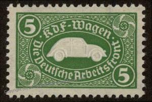 Germany Original Volkswagen 5M Saving Stamp KdF Wagen MNH 59585