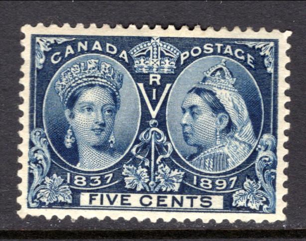 Canada 54 Unused (Mint) Hinged With Remnant