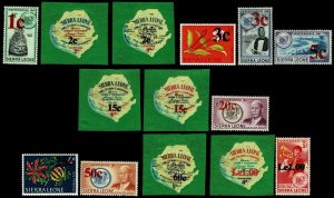 1965 Sierra Leone #286-99 Surcharged - OGNH - VF - CV$50.60 (ESP#3147)