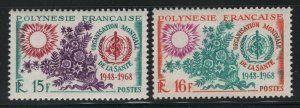French Polynesia 1968 World Health Org set Sc# 241-42 mint
