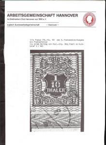 Arbeitsgemeinschaft Hannover im Briefmarken-Club Hannover...